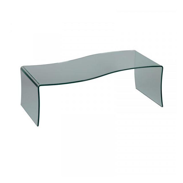 Dansmamaison Table basse forme S en Verre - Grib - L 116 x l 51 x H 40 cm