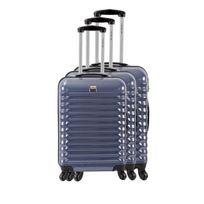 France Bag - Set de 3 Valises Rigide Abs et Polycarbonate 4 Roues 55-65-75cm Marine