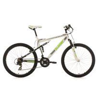 Ks Cycling - Vtt tout suspendu 26'' Slyder blanc-vert Tc 51 cm