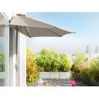 parasol demi lune hesperide demi parasol de balcon serena taupe