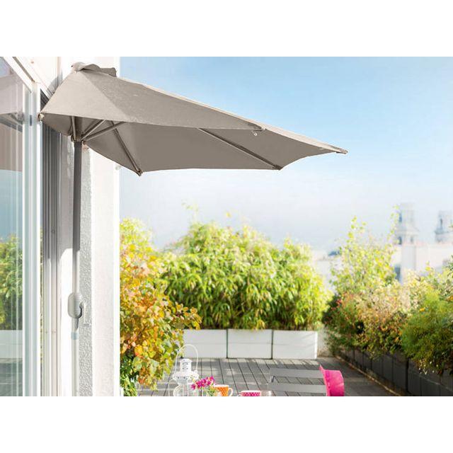 HESPERIDE - Demi parasol de balcon Serena Taupe