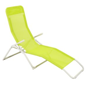 Carrefour optimistic bain de soleil 2 positions vert for Chaise longue de jardin carrefour