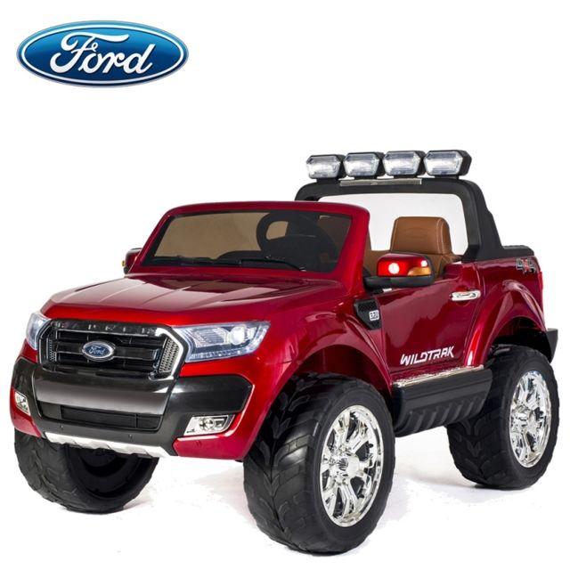 ford nouvelle ranger bluetooth voiture quad 4x4 lectrique enfant rouge m tal pack luxe. Black Bedroom Furniture Sets. Home Design Ideas