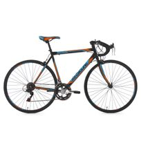 KS CYCLING - Vélo de Course 28'' Piccadilly noir-orange-bleu TC 59 cm