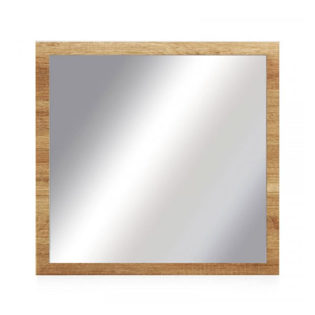 Dansmamaison Miroir carré Chêne blond - Fruita - L 60 x l 2 x H 60 cm