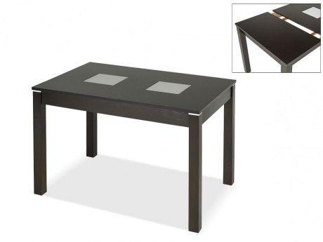 Marque Generique Table extensible Salena Ii - 4 à 6 couverts - Hêtre massif wengé