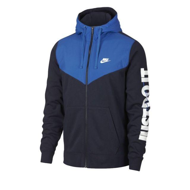ce8d9044cb53d Nike - Sweat M Nsw Hbr Hoodie Fz Flc - 931900-451 Noir - XXL - pas cher  Achat   Vente Sweat homme - RueDuCommerce