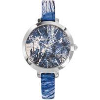 Christian Lacroix - Promo Montre Amazonie 8009904 - Montre Bleue Cuir Femme
