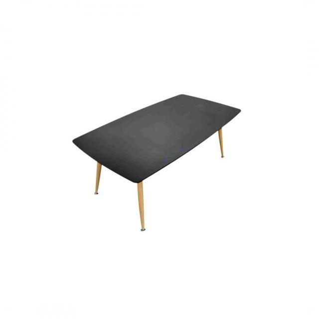 Zoli99 Rosa Table basse en bois Noir