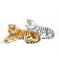 Plush's et Co - Tigre en peluche 136 cm Blanc