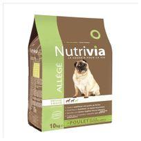 Nutrivia - Croquettes Allégées au Poulet et Légumes Verts pour Chien de Petite Taille - 10Kg