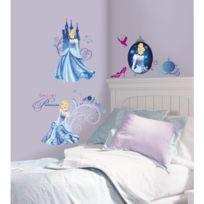 Monbeautapis - Stickers Disney Princesse Cendrillon Roommates Repositionnables 31 stickers