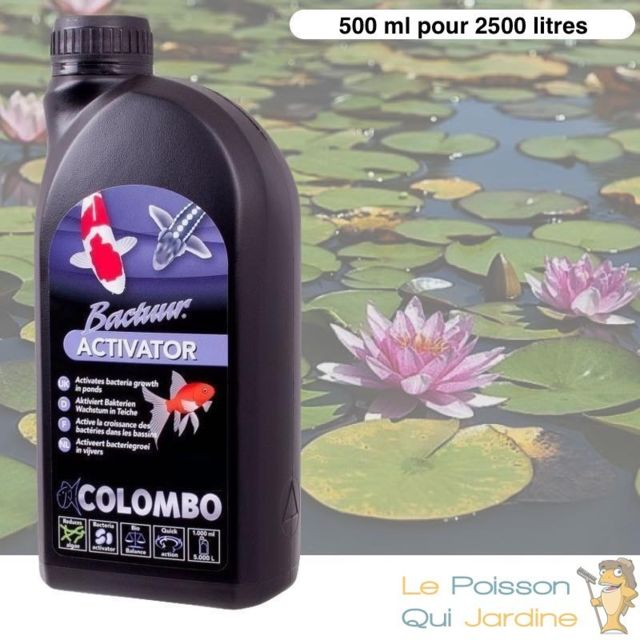 Le Poisson Qui Jardine Activateur De Bactéries 500ml Pour Bassins De Jardin de 2500 Litres