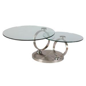 table basse en verre tremp et m tal kandinsky pas cher achat vente tables basses. Black Bedroom Furniture Sets. Home Design Ideas