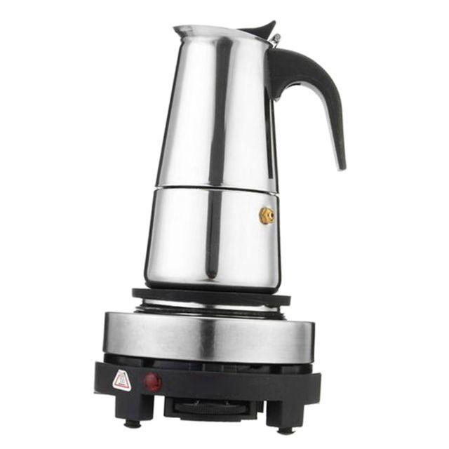 4CUP de cafetière percolateur en acier inoxydable à cuisinière en acier inoxydable