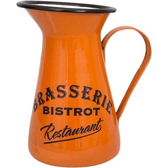 ANTIC LINE CREATIONS Broc en métal coloré Brasserie-Bistrot