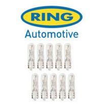 Ring - 10 Ampoules T5 - 12V 1.2W W2x4.6d - Wedgebase - clignotant et tableau de bord