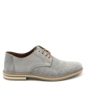 Rieker DERBY LEINEN/KID GRIS CLAIR - Chaussures Chaussure-Ville Homme