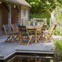 Salon de jardin bois 8 personnes - catalogue 2019 - [RueDuCommerce ...