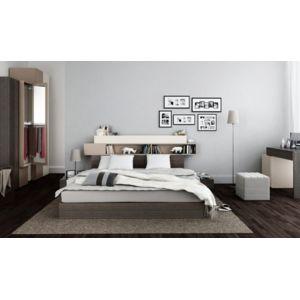 vox lit avec tete de lit rangements hifi avec sommier. Black Bedroom Furniture Sets. Home Design Ideas