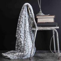 Today - Plaid fausse fourrure polyester imitation léopard relief blanc 125x150cm Stonenc