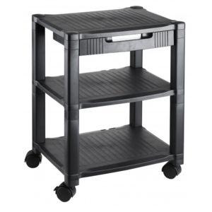 hjh office meuble de rangement pour imprimante altura high noir avec tiroir pas cher achat. Black Bedroom Furniture Sets. Home Design Ideas