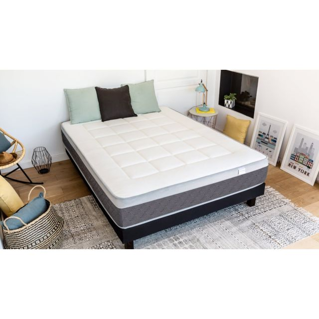 hbedding ensemble matelas ressorts ensach s sommier 160x200 ergo spring mousse m moire. Black Bedroom Furniture Sets. Home Design Ideas
