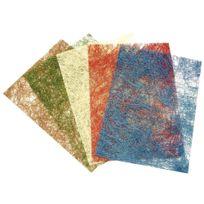 - feuilles de papier sisal pailleté format 23 x 33 cm - sachet de 5