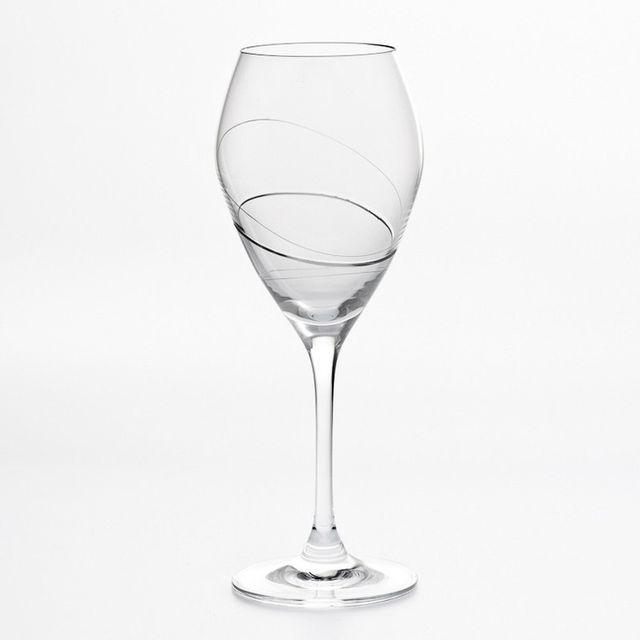 Table Passion Verre à vin motif spirale 32cl - Lot de 6 Silhouette