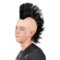 Boland - Perruque punk avec crête noire homme