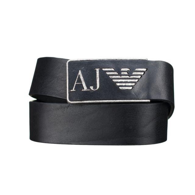 2975d1a33e2a Armani - Ceinture Jeans 931504 - Cc881 00020 Noir - pas cher Achat   Vente  Ceinture homme - RueDuCommerce