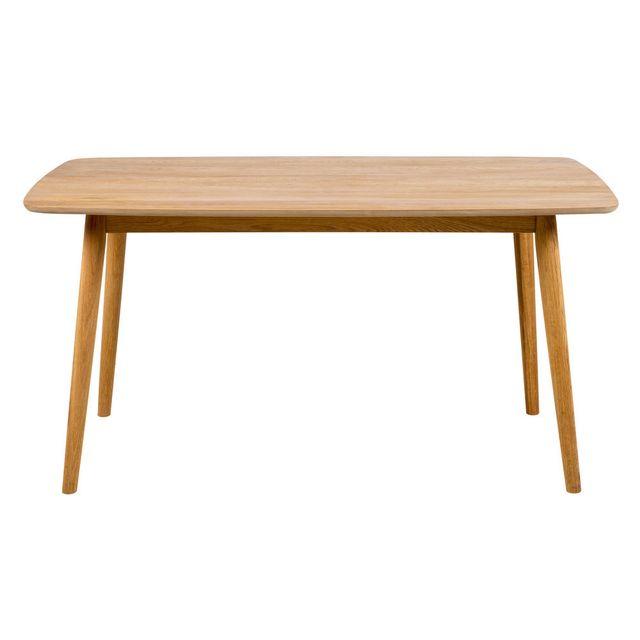 Kaligrafik Table à manger en bois massif Longueur 180cm
