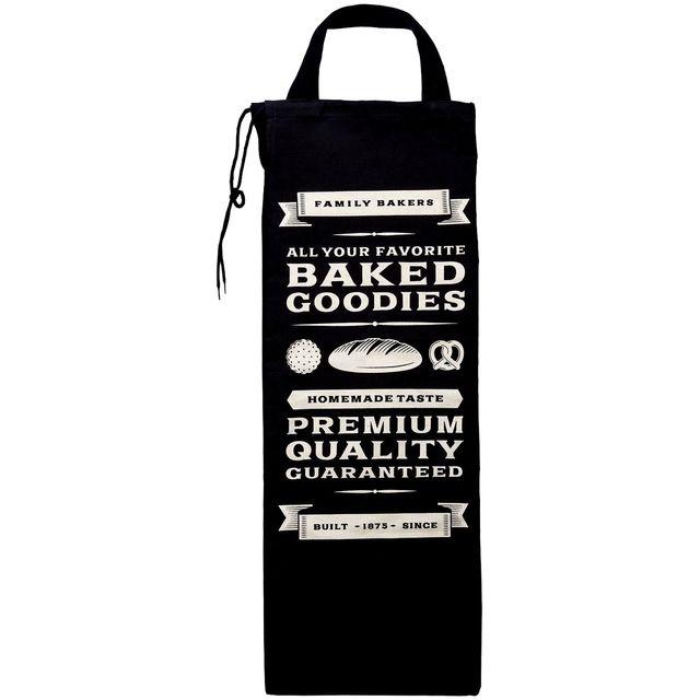 Promobo Sac A Pain Bistrot Rangement Rétro Pour Cuisine Boulangerie Usa Vintage Noir