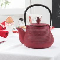 Cosy&Trendy - Théière en fonte rouge 1L tous feux Umbrella