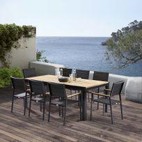 WILSA - Table et chaises de jardin moderne Bali