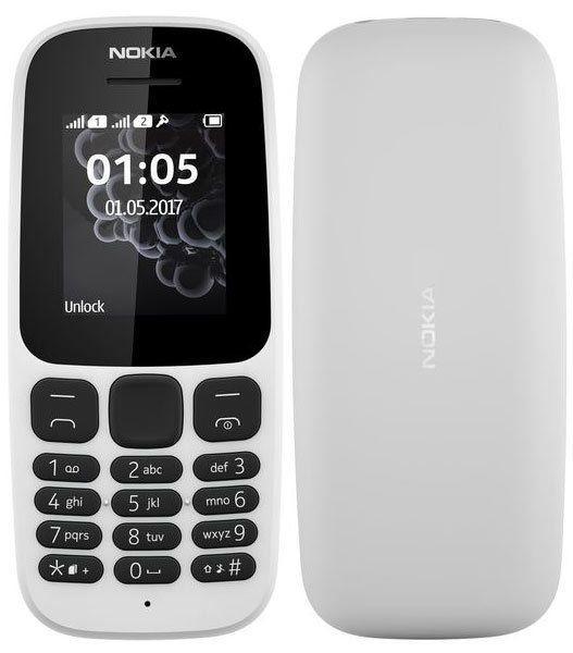 NOKIA 105 Double SIM - Blanc