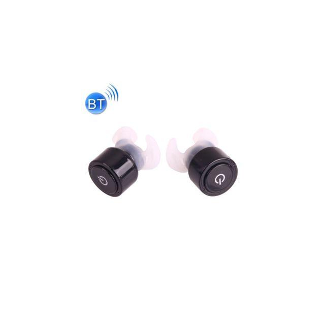 Auto-hightech Écouteur stéréo intra-auriculaire sans fil Bluetooth avec micro et boîtier d'alimentation de chargement mobile, pour iPh
