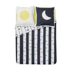 tex home drap housse matali crasset en coton bio jaune 190cm x 160cm pas cher achat. Black Bedroom Furniture Sets. Home Design Ideas