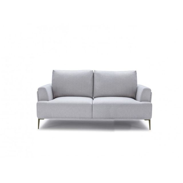 Canapé 2 places tissu gris clair - ALIX