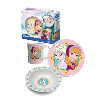 Disney Princesses Set Déjeuner 3pcs -rose Reine des Neiges