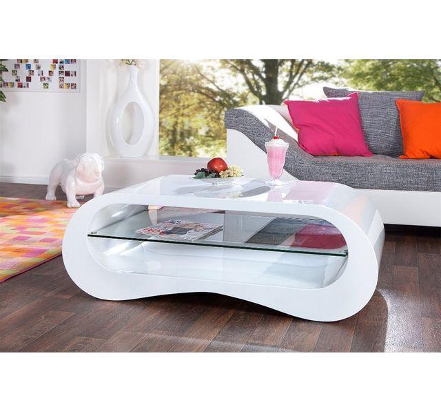 Chloe Design Table Basse Design Bronxo Blanc Pas Cher Achat