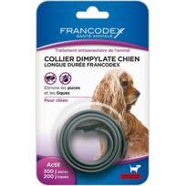 Francodex - Collier Dimpylate Chien Longue Duree Couleur Gris
