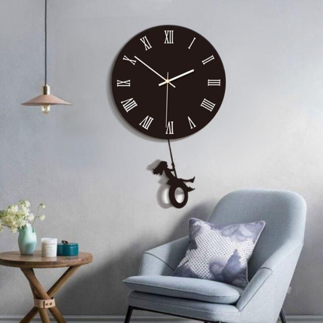 Wewoo - Horloge murale B011-009 acrylique modèle muet de ...