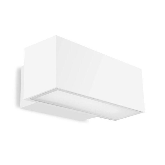 Leds C4 Applique fluo Afrodita, aluminium et verre, blanc, 30 cm