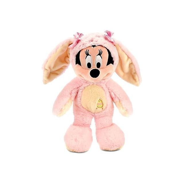 Mickey Mouse Disney Exclusive 12 Inch Plush Minnie Mouse Bunny PINK & Yellow Costume, by