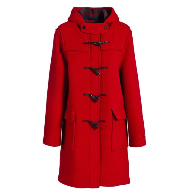 ebfbedbcf5 Dalmard Marine - Duffle coat laine made in France Couleur - rouge, Taille  Femme -