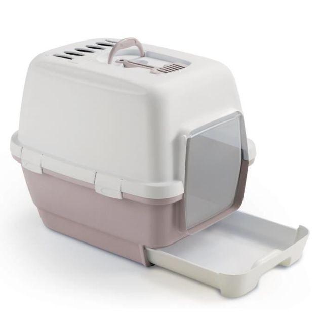 MAISON DE TOILETTE - BAC A LITIERE - FILTRE A CHARBON - TAPIS MAISON DE TOILETTE - TAPIS LITIERE Maison de toilette avec