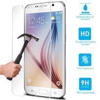 Cabling - Film vitre de protection écran Galaxy S6 en verre trempé haute transparence et ultra résistant incassable, inrayable 9H, et Ultra Slim avec bords arrondis - pour une protection et un confort d'utilisation optimal de votre telephone Galaxy S