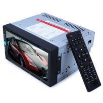 Auto-hightech - Autoradio Stéréo De Voiture à Écran Tactile 6.9 pouces avec Bluetooth V3.0, Lecteur Dvd, carte Sd, Usb, Fm Radio - Noir