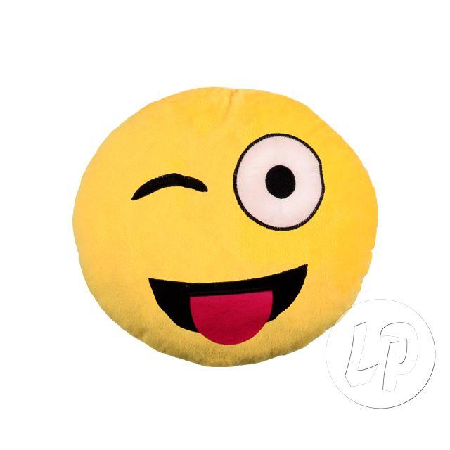 Coolminiprix Lot de 3 - Coussin émoticone visage tire la langue 27cm - Qualité Ce produit est vendu par lot de 3 pièces.Même si sur la photo il y a plusieurs pièces, vous recevrez 3 unités - Lot de 3 - 1x coussin émoticone visage tire la langue.diamètre 2